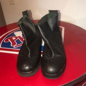 Shoes - Black leather moto boots